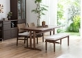 ローダイニングテーブル 1500 セット ベンチv01+椅子2脚:画像4