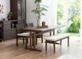 ローダイニングテーブル 1500 セット ベンチv01+椅子2脚:画像6