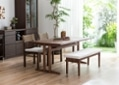 ローダイニングテーブル 1500 セット ベンチv01+椅子2脚:画像7