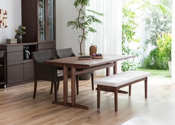 ローダイニングテーブル 1500 セット ベンチv01+椅子2脚:画像8