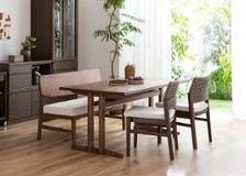 ローダイニングテーブル 1500 セット ベンチv02+椅子2脚