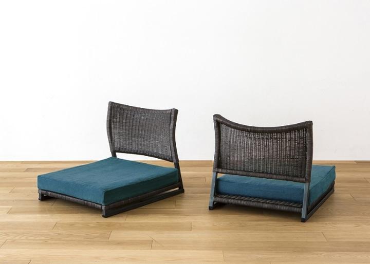 座椅子 (ラタン) カバー (カレイド):画像1