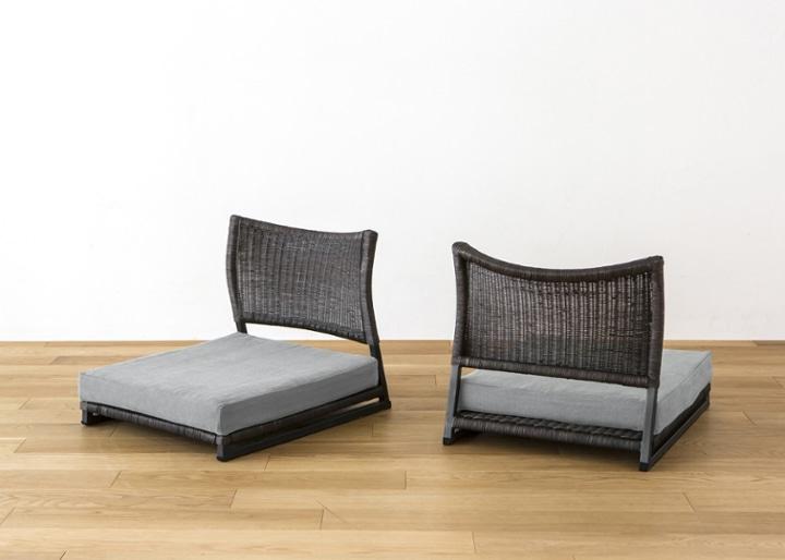 座椅子 (ラタン) カバー (カレイド):画像11