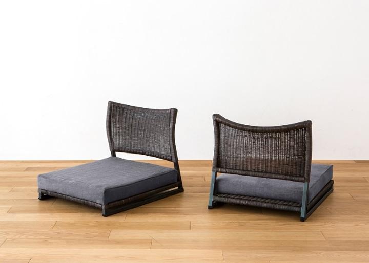 座椅子 (ラタン) カバー (カレイド):画像13