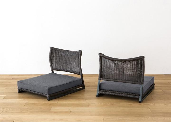 座椅子 (ラタン) カバー (カレイド):画像15