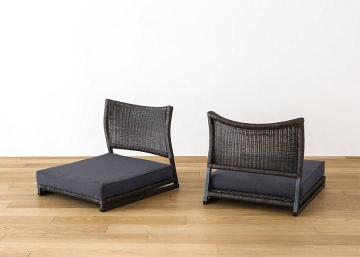 座椅子 (ラタン) カバー (カレイド):画像17