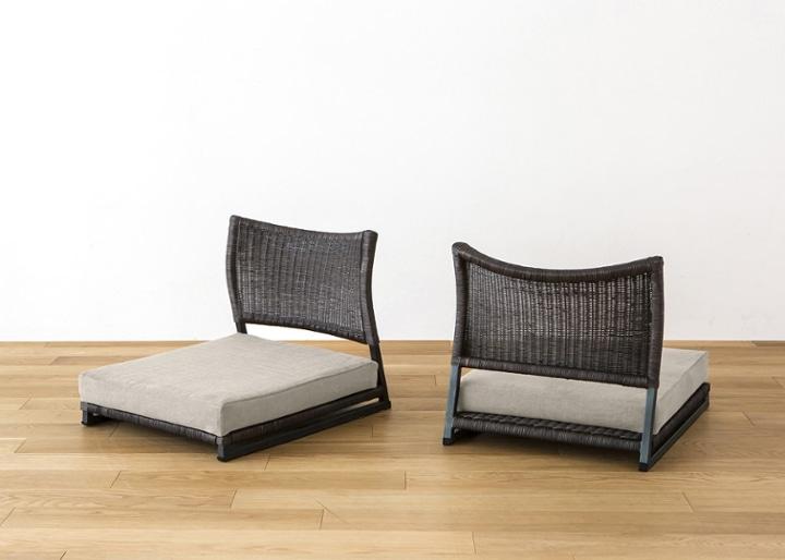 座椅子 (ラタン) カバー (カレイド):画像7