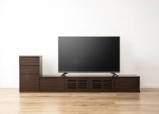 ルーバー・テレビボードv02 2100 L v01 セット(425 D1 L)L