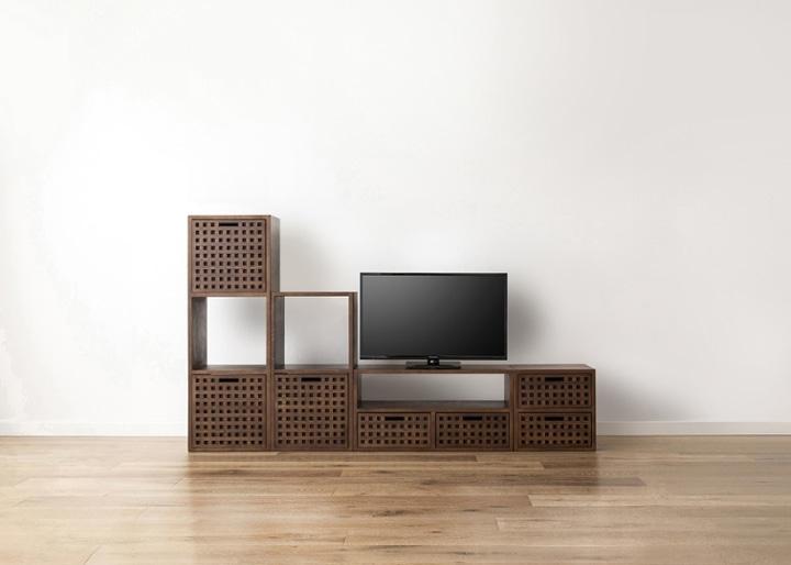 キューブ・テレビボード (GB) v03 セット:画像11