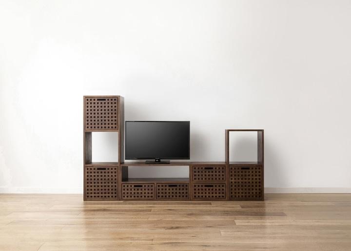 キューブ・テレビボード (GB) v03 セット:画像12