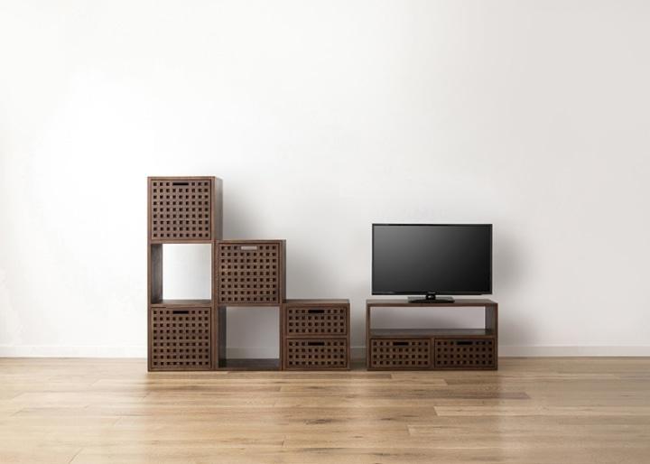 キューブ・テレビボード (GB) v03 セット:画像15