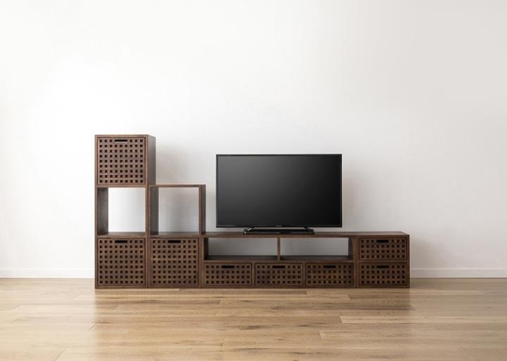 キューブ・テレビボード (GB) v03 セット:画像17