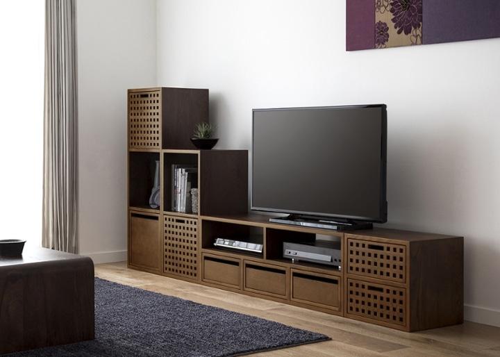 キューブ・テレビボード (GB) v03 セット:画像2
