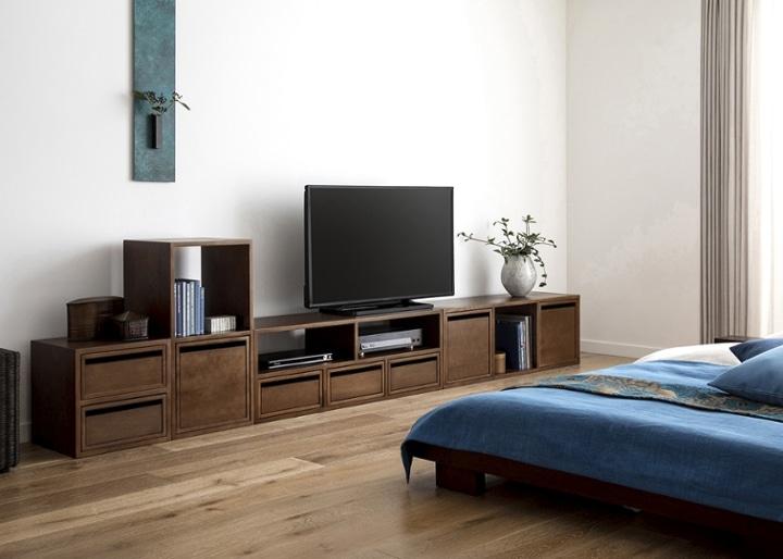 キューブ・テレビボード (GB) v03 セット:画像4