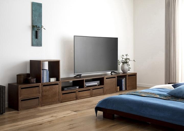 キューブ・テレビボード (GB) v03 セット:画像5