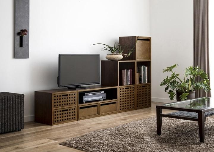 キューブ・テレビボード (GB) v03 セット:画像8