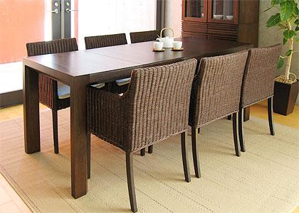 【販売終了】エクステンション・ダイニングテーブルセット(1450) 6脚:画像3