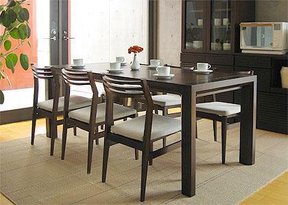 【販売終了】エクステンション・ダイニングテーブルセット(1450) 6脚:画像4