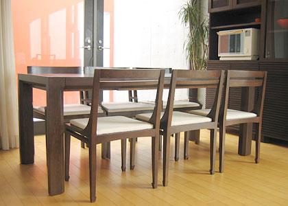 【販売終了】エクステンション・ダイニングテーブルセット(1450) 6脚:画像5