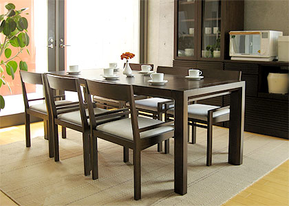 【販売終了】エクステンション・ダイニングテーブルセット(1450) 6脚:画像6