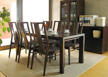 【販売終了】エクステンション・ダイニングテーブルセット(1450) 6脚:画像7