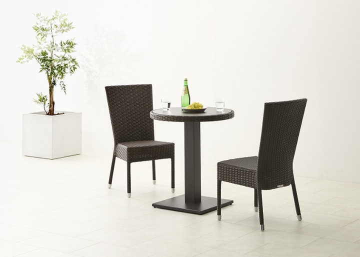 ガーデン・テーブルv02 650 セット 椅子2脚:画像1