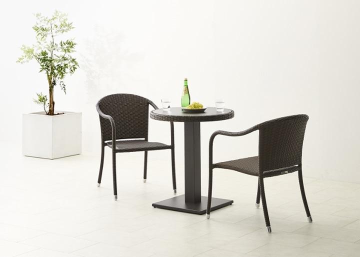 ガーデン・テーブルv02 650 セット 椅子2脚:画像2