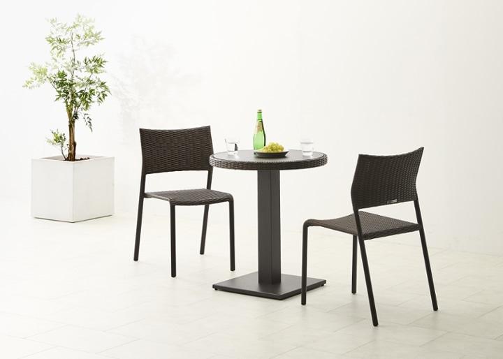 ガーデン・テーブルv02 650 セット 椅子2脚:画像3
