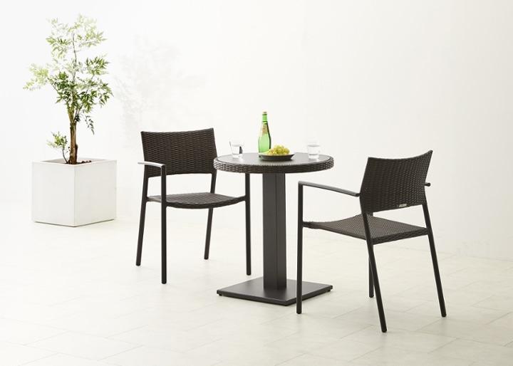 ガーデン・テーブルv02 650 セット チェア×2:画像4