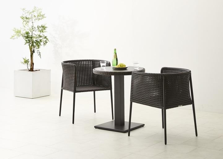 ガーデン・テーブルv02 650 セット チェア×2:画像5