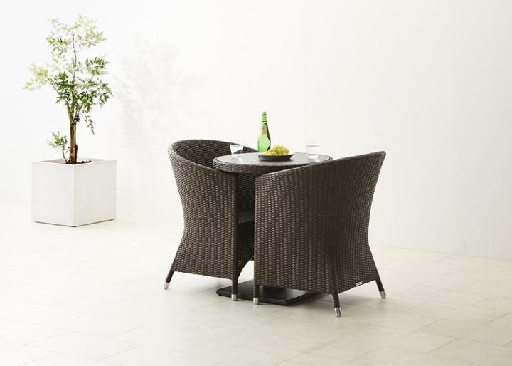 ガーデン・テーブルv02 650 セット チェア×2:画像7