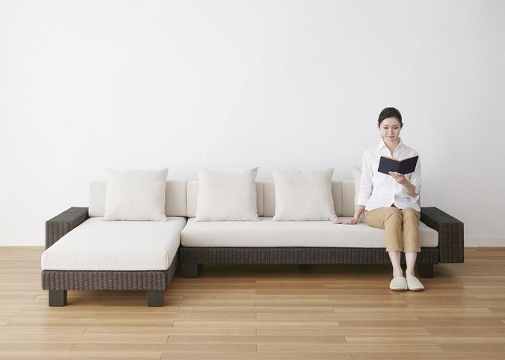 ケイ・ローソファ v02 カウチ ワイドセット (ラタン):画像33