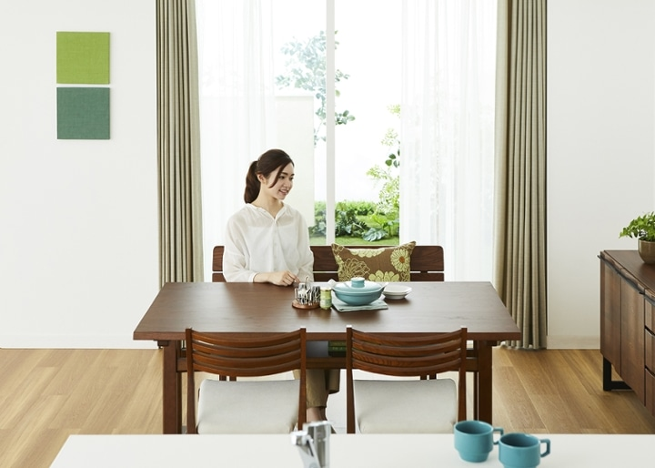 モク・ローダイニングテーブル 1500 (GB):画像4