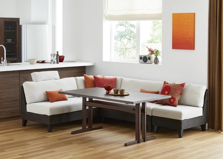 モク・ソファダイニングテーブル 1500:画像1