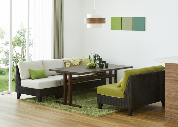 モク・ソファダイニングテーブル 1500:画像11