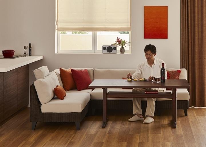 モク・ソファダイニングテーブル 1500:画像4