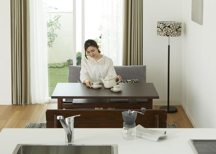 モク・ソファダイニングテーブル 1200:画像18