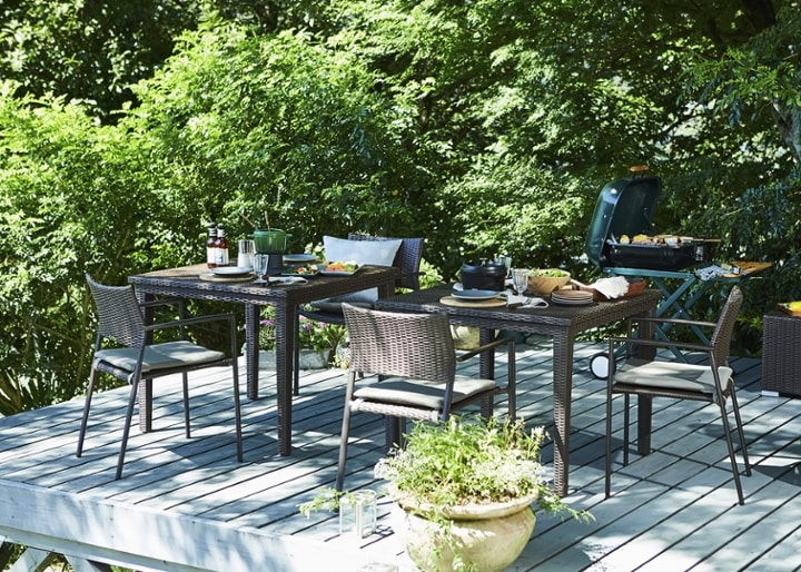 ガーデン・ダイニングテーブル 900×900:画像2