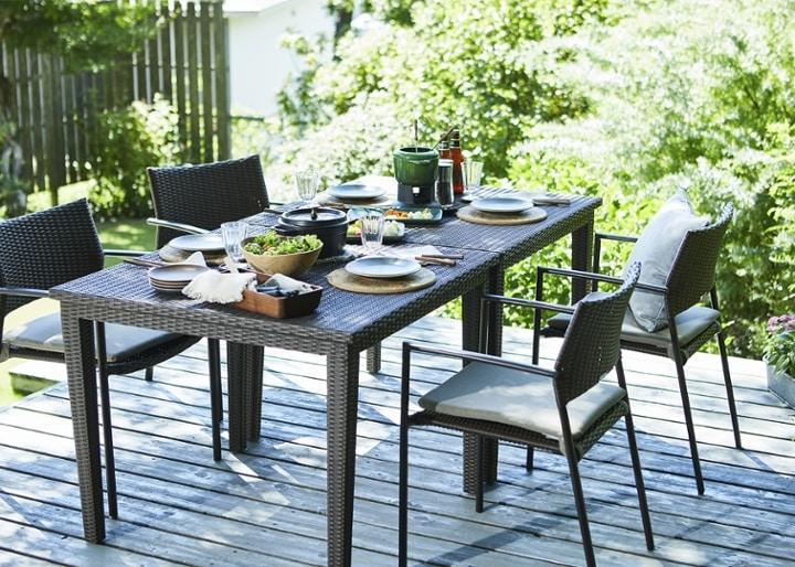 ガーデン・ダイニングテーブル 900×900:画像3