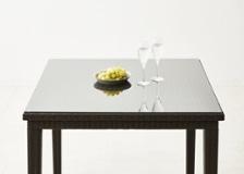 ガーデン・ダイニングテーブル 900×900用天板ガラス