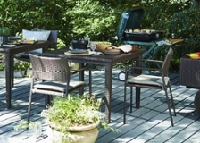 ガーデン・ダイニングテーブル 900×900 セット チェア×2
