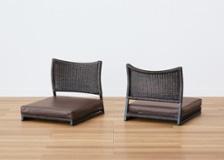 座椅子 (ラタン) カバー (ソフトレザーv02)