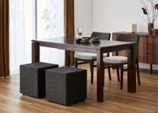 ラタン・キューブ・スツール&テーブル