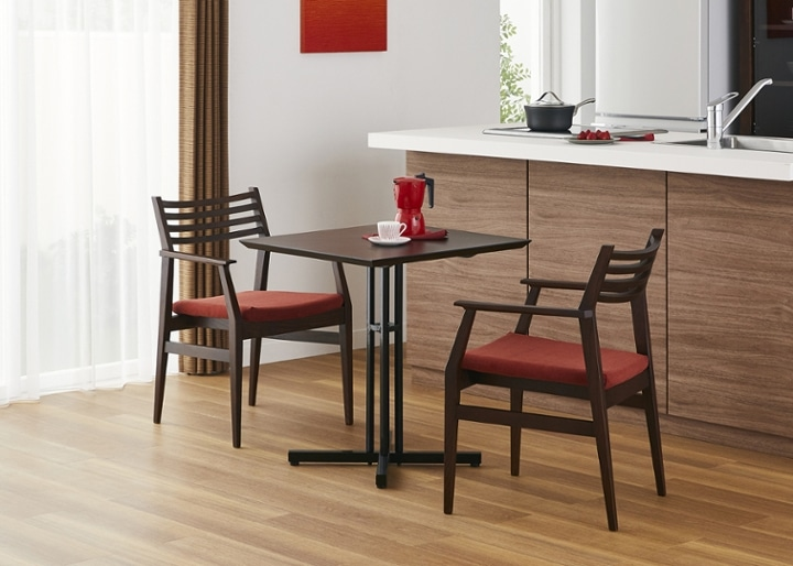 カフェ・テーブルv03 セット チェア×2:画像1