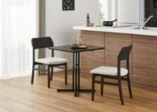 カフェ・テーブルv03 セット チェア×2