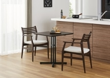カフェ・テーブルv03 セット 椅子2脚