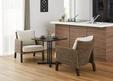 カフェ・テーブルv04 セット 椅子2脚