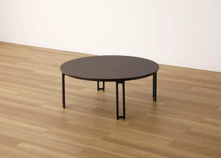 ラウンド・ローテーブルセット 座椅子2脚:画像6