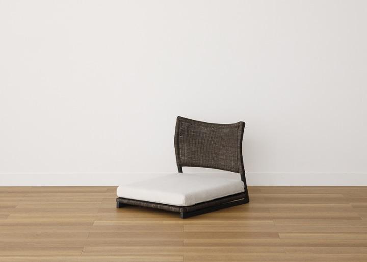 ラウンド・ローテーブルセット 座椅子2脚:画像7