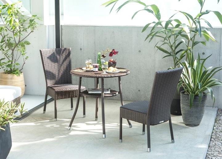 ガーデン・テーブル 700 セット 椅子2脚:画像1